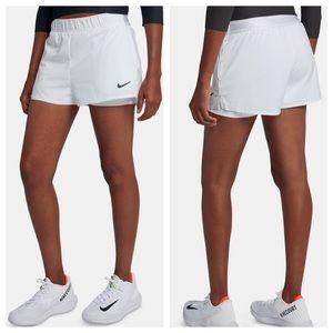 Nike Court Flex Women's Tennis Shorts. White NEW